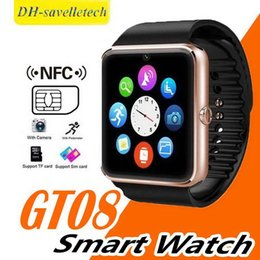 bluetooth smart watch sim Australia - 2018 Bluetooth Smart Watch for ios android phones with SIM Card Slot Call Massage Camera Pedometer Analysis GT08 smart watches