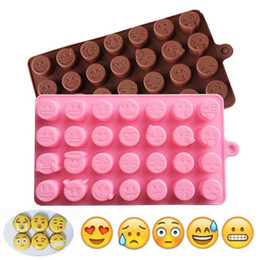 Candy Making Tools Australia - DIY silicone Emoji expression Chocolate making Mold , wedding party kitchen baking Pastry Tools Cake Molds candy and chocolate molds
