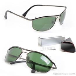 3d21f275b6c 10PCS New Designer sun glasses 8012 Mens Sunglasses Brand womens glasses  Green Glass Lens unisex sunglasses Classic Luxury glasses With Box