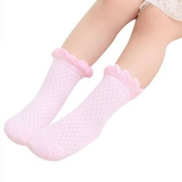 Lace Socks Toddlers NZ - VL55021 Baby Toddler Kids Girls Boys Lace Mesh Thin Soft Cotton Ankle Socks