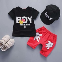 White Suits For Toddlers NZ - good quality Summer boys clothing sets Baby Shorts Pant suit Children Cartoon clothes Kids Boys sport suit for toddler boys clothing