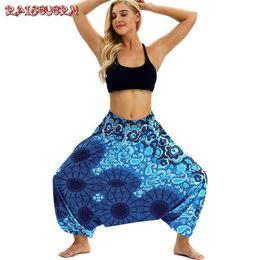 $enCountryForm.capitalKeyWord UK - Raisevern Women Loose Thai Harem Pants Indie Folk Boho Festival Hippy Casual Trousers Loose Elastic Waist National Style Pants MX190716