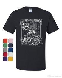 $enCountryForm.capitalKeyWord NZ - America's Highway T-Shirt Route 66 Mc Motorcycle Chopper Bobber Tee Shirt T Shirts Men's Short Sleeve Cotton T-Shirts Adult Summer