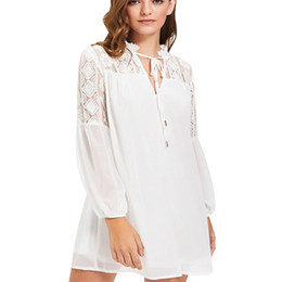 ace0a9a2082 Sheer White Blouse Australia - Plus Size Womens Tops and Blouses Casual Lace  Splicing White Chiffon