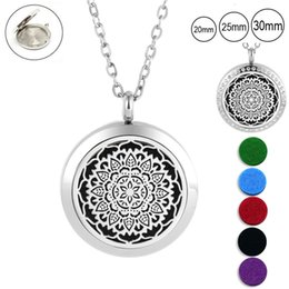 magnetic pendant necklaces NZ - agnetic pendant 25mm 30mm magnetic essntial oil necklace for women 316L stainless steel aromatherapy pendant diffuser necklace (free wit...