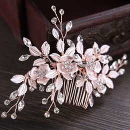 $enCountryForm.capitalKeyWord Australia - New Silver Rose Gold Wedding Hair Accessories Pearl Rhinestone Hair Comb Clip Hairpin Set Handmade Bridal Jewelry For Women