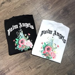 ss springs NZ - 2020 SS spring and summer new Palm PA Angels bouquet printing men's casual short-sleeved oversize T-shirt