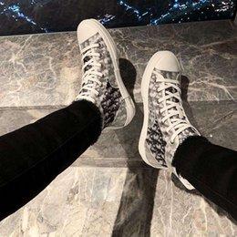venda por atacado Moda Dior conversar Air Jordan 1 Kanye West High Top Bleu Baixa oblíqua KAWS Kim Jones Hommes Femme cesto de basquete Sneakers Shoes