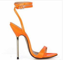 Ivory Gladiator Sandals NZ - 35-43 women thin high heels sandals sexy buckle ankle strap gladiator party wedding shoes 2017 large size women summer pumps sandals