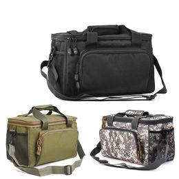 $enCountryForm.capitalKeyWord Australia - Fishing Bag Canvas Multifunctional Outdoor Waist Shoulder Bags Reel Lure Carrier Storage Bag Fishing Tackle 37*25*25cm #273403