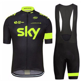$enCountryForm.capitalKeyWord Australia - Pro team Bike SKY Mens Cycling jersey bibs shorts set Quick dry Ropa Ciclismo Tour de France Summer quick dry Bicycle Cycling Clothing
