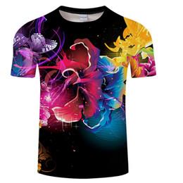 Wholesale Women Fashionable Tops Australia - Flower Print tshirt Butterfly Men Women t-shirt Tee ShortSleeve Top Harajuku Fashionable casual men's short sleeve
