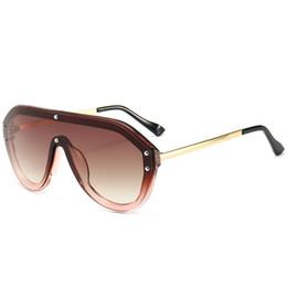 Browning Shooting Glasses UK - 2019 new sunglasses fashion Siamese glasses Street shot Joker sunglasses