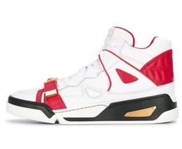 Black ruBBer hip Boots online shopping - Designer Men Medusa boots Casual Shoes High Top Lace Up Trending Man Leisure Shoes Platform Hip Hop black sneakers h8