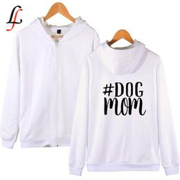 Dog Zipper Australia - Dog Mom harajuku Kpop Zipper Hoodies Sweatshirt Women Men Streetwear Oversize outwear Hip-Hop Bangtan Boys Jimin Clothes