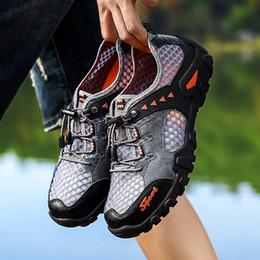 $enCountryForm.capitalKeyWord Australia - Outdoor Hiking Shoes Waterproof Men Summer Sneakers Leather Hiking Sandals Mens Nonslip Breathable Trekking Trail Water Shoes