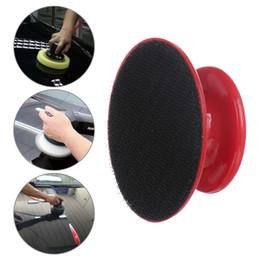 Foam wax pad online shopping - 1 Auto Car Care Cleaning Foam Gripper Washing Tool Wax Polishing Sponge Car styling Handle Plastic Handle Polish Pad
