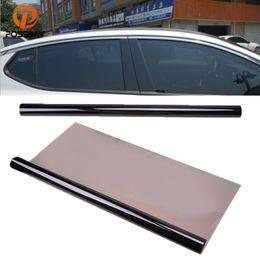 Sun Glasses Black Australia - POSSBAY 50*600cm 35% VLT Car Window Film Solar Protection Black Tint Film Glass Car Sun Shade Solar Protection Exterior Part