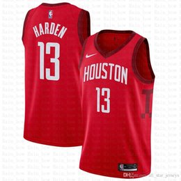 James 13 Harden Basketball Jerseys 100% Stitched Mens 2019 New tHE City  Houston Jersey Rockets Red 77fba4eca