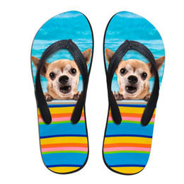 $enCountryForm.capitalKeyWord Australia - Stylish Lightweight Funny Bulldog and Cat Pet Couple Personalized Animal Flip Flops Unisex Outdoor Flower Sandals Slippers Shoes
