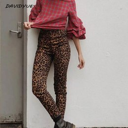 Punk leoPard Print online shopping - Fashion Leopard print skinny jeans Streetwear female high waist jeans pencil pants jeggings Punk rock boyfriend for women