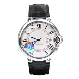 $enCountryForm.capitalKeyWord Australia - Luxury Women Mens Watches 8215 Automatic Watch Sapphire 42mm 316L Stainless Steel Case Black Leather Strap Classic Blue Ball Wristwatches