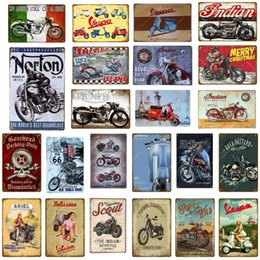tavern sign Australia - Vintage Motorcycle Retro Plaque Metal Signs Poster Bar Pub Cafe Club Wall Decor Art Craft Tavern Garage Decoration