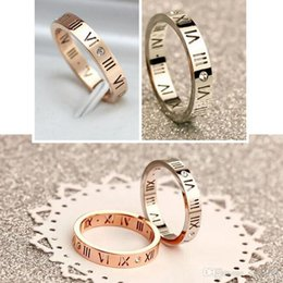 roman numerals ring wholesale Australia - Roman Numerals Ring - Women's Jewelry Stainless Steel Rhinestone Fashion Elegant Jewelry Lady Rings - (US Size 4 -10)