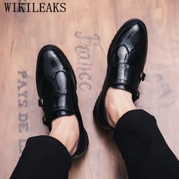 monk formal shoes men 2019 - classic formal shoes men loafers mens dress shoes double monk strap brogue oxford for men sapato social masculino discou