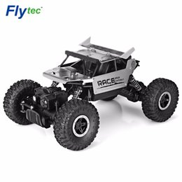 racing alloy NZ - Flytec 9118 Rc Car 2 .4g 4wd Alloy Rock Crawlers Rc Climbing Car High Speed Racing Car Clamber Off -Road Vehicle Toy