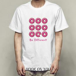 $enCountryForm.capitalKeyWord Australia - Be different t shirt Nice doughnut short sleeve tops Donut fadeless tees Unisex white colorfast clothing Pure color modal Tshirt