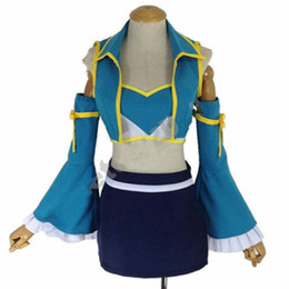fairy tail lucy heartfilia cosplay 2019 - New Fairy Tail Lucy Heartfilia 7 Years Later Dress Cosplay Costume outfit unisex