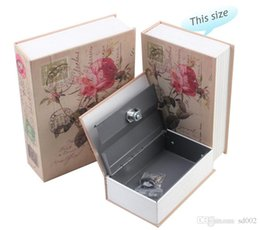 jewelry safes wholesale NZ - Hidden Storage Safe Deposit Box Simulation Book Classical Rose Safety Case Originality Vehicle Storage Password Lock Portable 31 5skb1