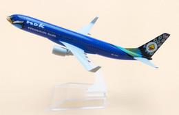 $enCountryForm.capitalKeyWord NZ - 16cm Blue Alloy Metal Thai Air NOK Airlines Boeing 737 B737 Airway Airplane Model Plane Model W Stand Aircraft Gift