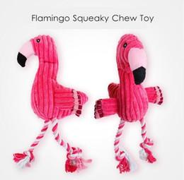 $enCountryForm.capitalKeyWord Australia - Flamingo Shape Pet Dogs Puppy Squeaky Chewing Toys Bird Shape Plush Toys Cotton Rope Chewing Training Toys Pet Supplies