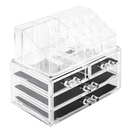 US Stock Acrylic Jewelry Box 4 Drawers, Transparent Jewellery Organizer, Earring Bracelet Lipstick Display Case Gift for Women, Girls on Sale