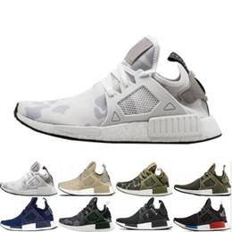Duck shoes women online shopping - Original women NMD XR1 PK Running Shoes Cheap Sneaker Primeknit OG PK Zebra Bred Blue Shadow Noise Duck Camo Fall Olive