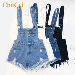 $enCountryForm.capitalKeyWord Australia - Plus Size Womens Denim Shorts Summer Rompers Jumpsuit Overalls For Women Playsuits Overalls Jeans Women This Woman Development S19713