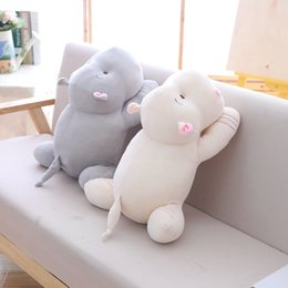 Stuffed hippo animal dollS online shopping - Cartoon Hippo Plush Dolls Stuffed Soft Down Cotton Animal Pillow Cute Toy Birthday Christmas Gift for Children Kid