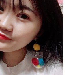 $enCountryForm.capitalKeyWord Australia - Korean Child-friendly Modern Girl Heart Ball Earrings Stereo Transparent Ball Without Ear Pierced Ear Clip Earring Women Jewelry