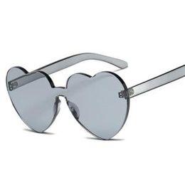 30b793f2d8 Women Heart-shaped Sunglasses PC Rimless Clear Sunglasses Transparent  Vintage Fashion Eyewears Men Hearts Shaped Retro Sunglasses LJJR185