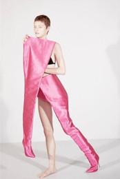 $enCountryForm.capitalKeyWord Australia - New Rihanna Fashion Women High Waist Boots black purple orange Thigh High Booties Pointed Toe Over the knee Boots Size 35-45