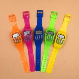 $enCountryForm.capitalKeyWord Australia - Noyokere Led Calculator Watch Electronic Digital Chronograph Computer Kids Children Boys Girls Sport Rubber Wrist Watches