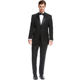 China Custom Made New Style Fashion Black 2 Piece Mens Groom Tuxedo Wedding Suits Groomsman Tailcoats Men Suits (Jacket+Pants) Z621 suppliers