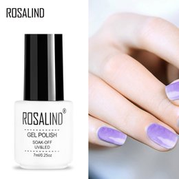 Red nail aRt diy online shopping - ROSALIND Gel S New Blossom Clear Nail Polish For DIY Nail Art Need Colorful Painting gel and TOP BASE Coat Polish