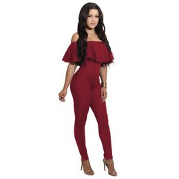 $enCountryForm.capitalKeyWord NZ - sex Summer Fashion European and American Explosion Boom in 2019 Lotus Leaf Edge Shoulder-exposed and Body-building Conjoined Style Jumpsuits