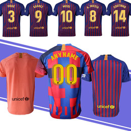 2ab17d87950 InIesta soccer jersey online shopping - 18 New Thailand MESSI Jersey A  INIESTA PIQUE SúAREZ COUTINHO