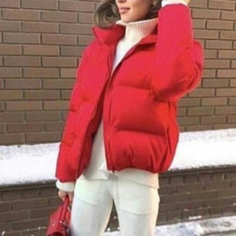 oversized collar jacket NZ - NIBESSER Fashion Women Coat Solid Standard Collar Oversized Short Jacket Winter Autumn Female Puffer Jacket Parkas Mujer 2019 T200114