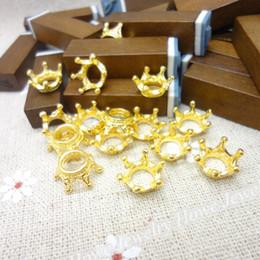 Color Charms Australia - vintage charms Wholesale 100 PCS Vintage Charms Imperial crown Pendant Gold-color Fit Bracelets Necklace DIY Metal Jewelry Making