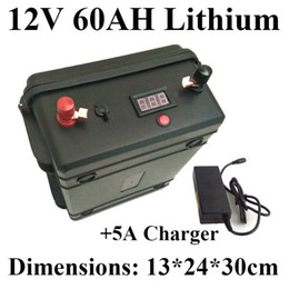 Electric Led Cars Australia - Waterproof 18650 12V 60ah Lithium ion battery+ LED voltage display for replacement 12V 60AH Lead-acid batteries electric car EV